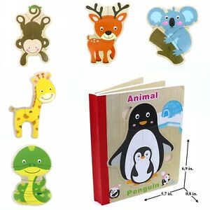 Book Puzzle For Toddlers Kids Educational Early Learning Toys Animals Ebay