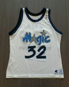 purchase cheap 93be2 bcf30 Vintage Champion Orlando Magic #32 Shaquille O'neal NBA ...