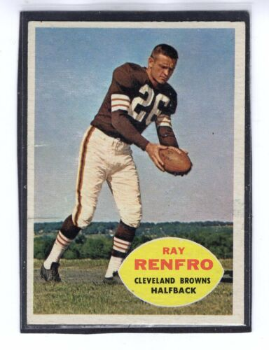 1 of 1 - 1960  RAY RENFRO - Topps Football Card - # 26 - Cleveland Browns - Vintage