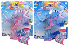 2 x Seifenblasenpistole mit LED Seifenblasen Fisch Bubble Gun Batterie gratis