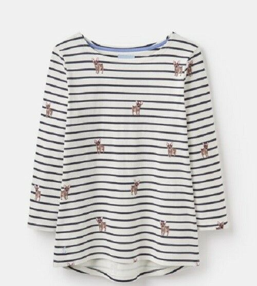 T SHIRT JOULES HARBOUR LONG SLEEVE TOP GREY FLORAL VARIOUS SIZES NEW //TAGS