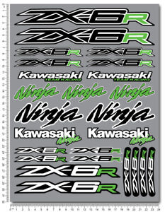 ZX-6R-Ninja-racing-motorcycle-decals-stickers-set-fairing-zx6r-ZXR-Laminated