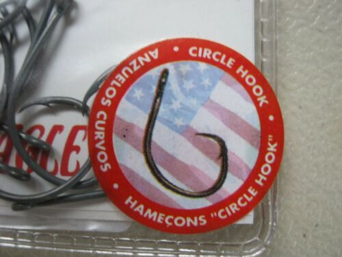 30 Eagle Claw Featherlite circle hooks TL702G size 1//0 light wire FREE FAST SHIP