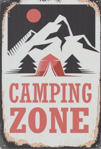 Bouclier Camping zone Tôle Bouclier Image expédition depuis l/'Allemagne 30 x 20 cm 2318