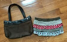 31 Thirty One Brown Skirt Purse Base With One Ruffle Skirt *Retired*