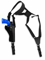 Barsony Black Leather Vertical Gun Shoulder Holster For Taurus 4 Revolvers