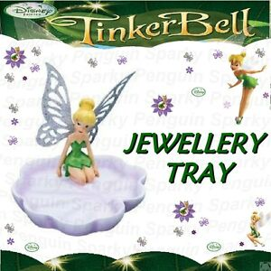 AUTHENTIC DISNEY FAIRIES TINKER BELL JEWELLERY TRAY GLITTERY WING DISPLAY