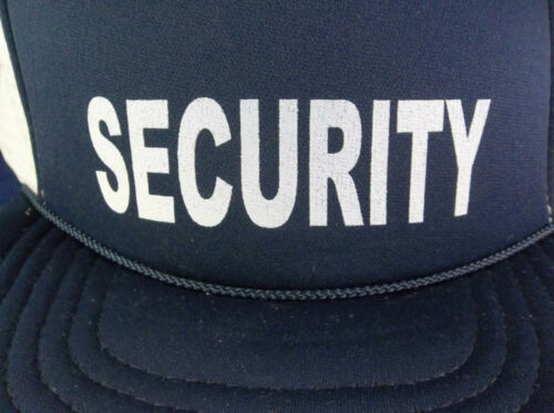Details about  /KC Caps Blue White Corded Mesh Snapback Security Costume Prop Hat