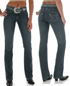 eef75846 WRANGLER Cowgirl Cut Q Baby Ultimate Riding Mid Rise Jeans WRQ20BA ...
