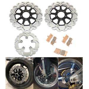 GSX 600 750 98-06 Suzuki Rear Brake Rotor+Pads GSX 1300 R Hayabusa 1999-2007