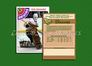Ron-Grahame-Boston-Bruins-Custom-Hockey-Card-1977-78