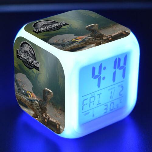 Jurassic World Park IV LED Nachtlichter Digital Alarm Wecker Fest Geschenk B
