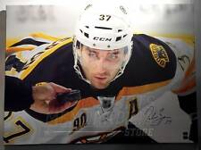 Patrice Bergeron Boston Bruins Signed Autographed Face Off 40x30 Canvas