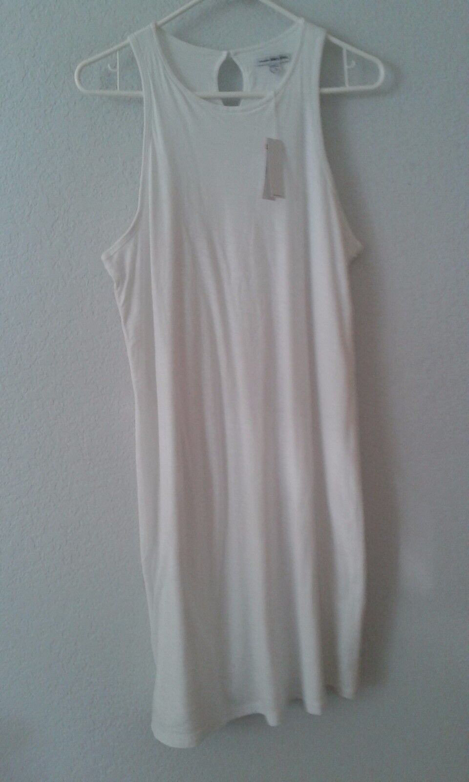 James Perse NEW solid Weiß dress L (3) maxi COTTON sleeveless casual NWT