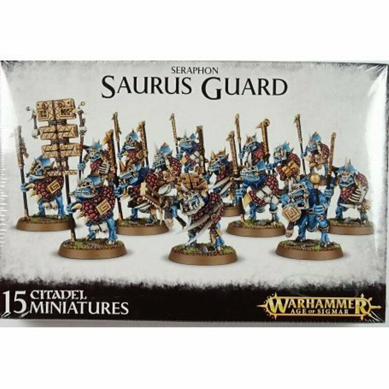 Warhammer Age of Sigmar  Seraphon Saurus Guard 88-12