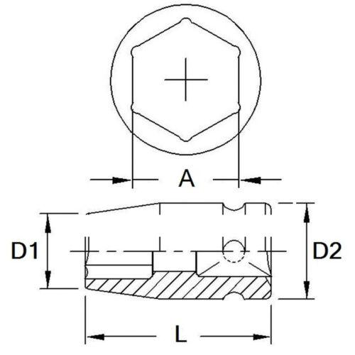 "6-Point Metric Impact Socket 52mm~59mm New Chrome Molvbdenum Steel 3//4/"" Dr"