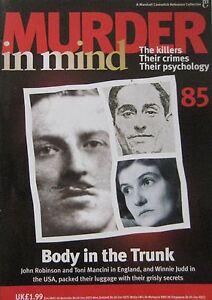 Murder In Mind No 85 Body In The Trunk John Robinson Toni Mancini