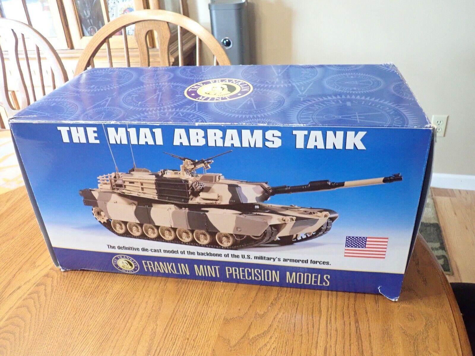 Franklin Mint Mint M1A1 Abrams Tank 1 24