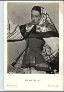 BRIGITTE-HORNEY-Schauspielerin-ca-1950-60-Portraet-AK-Film-Buehne-Theater-Foto
