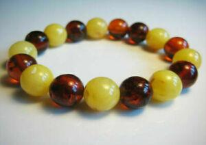Genuine Round Beautiful Baltic Amber Bracelet 17.5 grams !!!