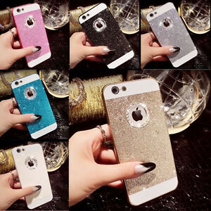 Bling-Glitter-Crystal-Hard-Back-Phone-Case-Cover-Skin-For-iPhone-4s-5s-6-Plus-SE