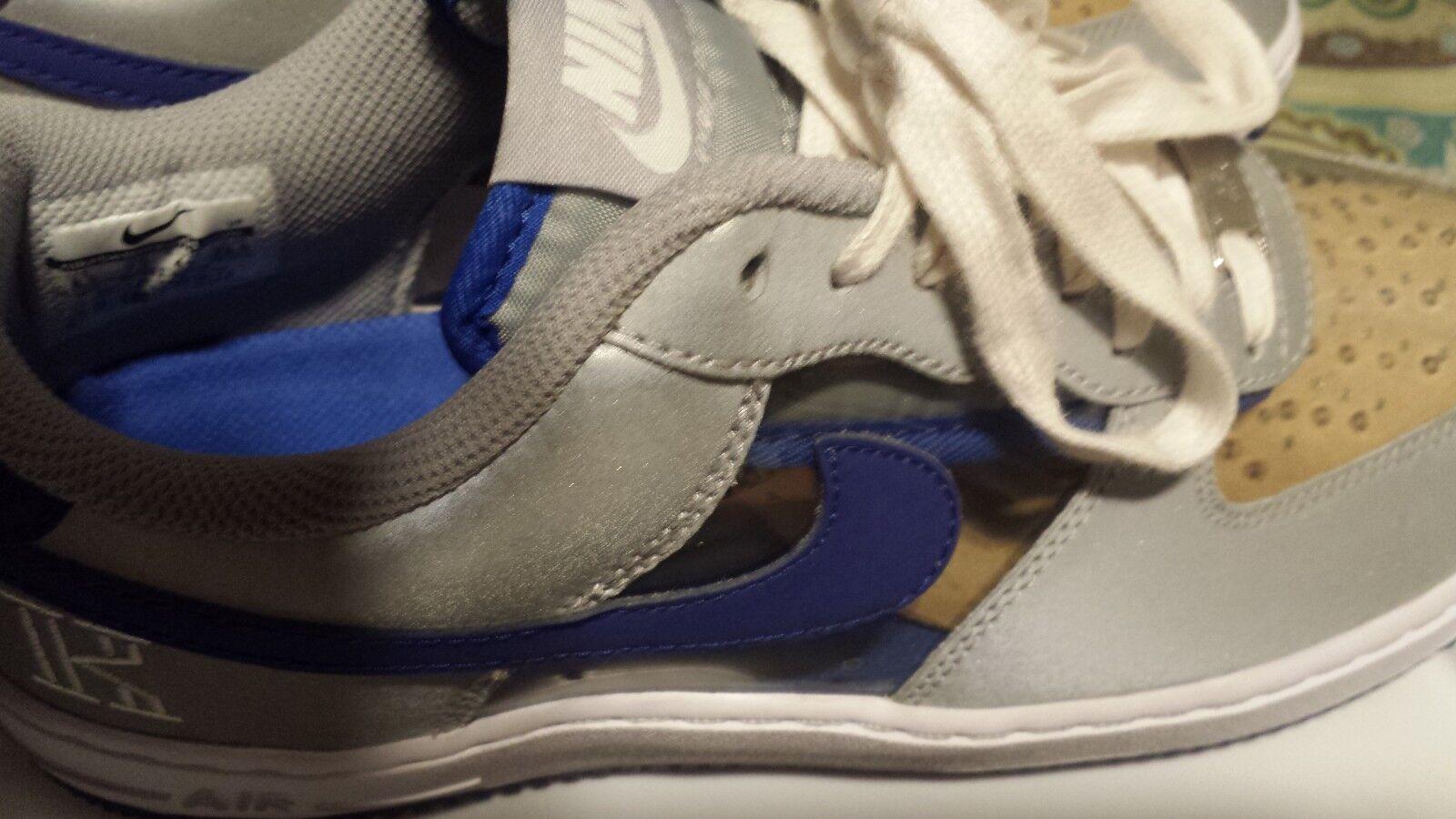 Air force 1 signature kyrie Irving rare bluee 100% original sz 8.5 low tops