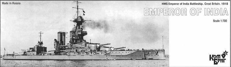 Combrig 1 700 Battleship HMS Emperor of India, 1918, resin kit  70402PE