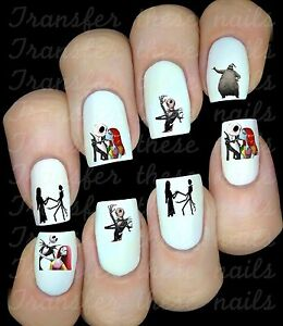 Nightmare-before-xmas-Autocollant-Stickers-ongles-nail-art-manucure-water-decal