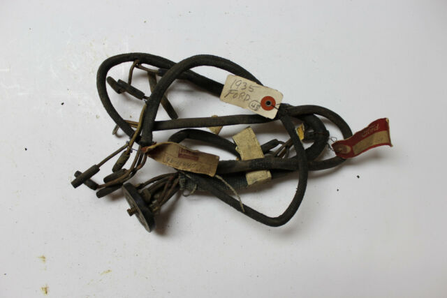 nos vintage cloth oem ford 1935 headlight wire harness 48-11647 fomoco (210*