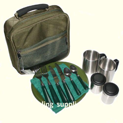 Fishing Folding Bivvy Table Cutlery set  Carp Coarse Camping Tackle