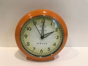 BIG-BEN-Retro-034-LOUD-ALARM-034-Clock-batteries-Included-Works-Orange