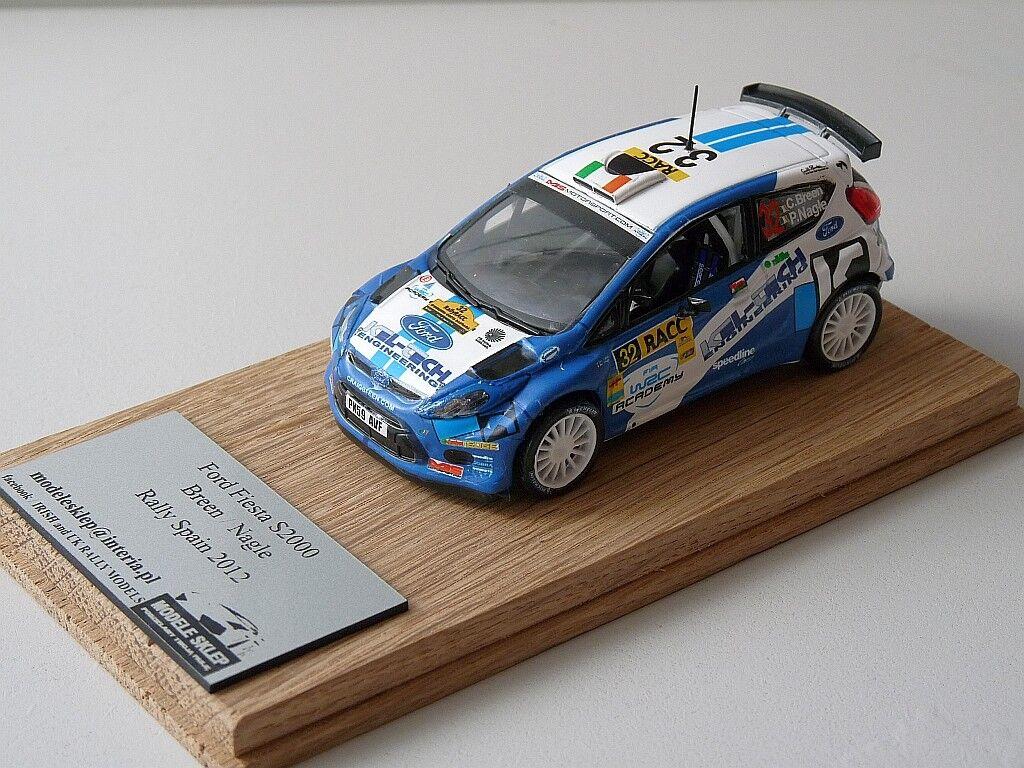 Craig Breen Nagle Ford Fiesta S2000 Rally España Catalunya 2012 1 43 IXO código 3
