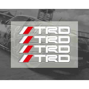 4-Pcs-White-TRD-Door-Handle-Sticker-Racing-Badge-For-MR2-Auris-Prius-Yaris