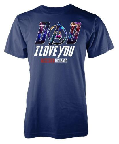 Marvellous Avenger I Love You 3000 Iron Man Tony Stark Kids T Shirt