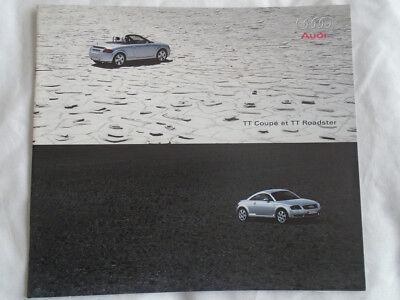 Audi Tt Coupe & Roadster Brochure Mar 2000 Mercato Svizzero Testo Francese- Famoso Per Materiali Selezionati, Disegni Innovativi, Colori Deliziosi E Lavorazione Squisita