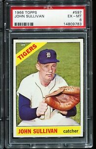 1966-Topps-Baseball-597-JOHN-SULLIVAN-Detroit-Tigers-PSA-6-EX-MT