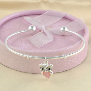 1pc Fashion Charm Women Owl Rhinestone Gold Plated Cuff Bracelet Bangle Jewelry