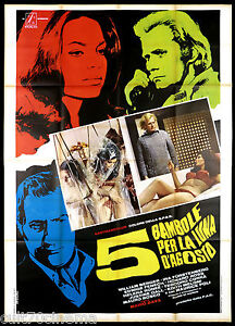 5 BAMBOLE PER LA LUNA D'AGOSTO (A) MANIFESTO CINEMA BAVA THRILLER 1975 POSTER 4F