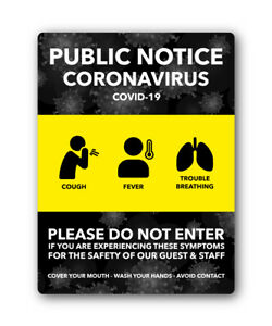 COVID-VIRUS-HYGIENE-STICKER-DO-NOT-ENTER-SAFETY-Signs-office-DECAL-FAST-SHIPPING