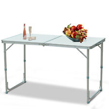 Folding Table 4' Portable Plastic Indoor Outdoor Picnic Party Camp Tables