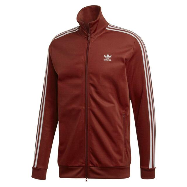 oficial último Productos Adidas Originals HOMBRE Beckenbauer Chaqueta Rojo Óxido Casual Burdeos  Trébol De
