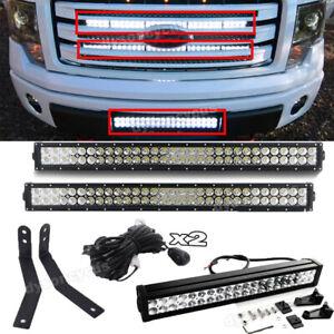 Car & Truck Lighting & Lamps Car & Truck Fog & Driving Lights For 09-14 Ford F150 Upper Grille Lower Hidden Bumper Combo LED Light Bar Kit/ 4
