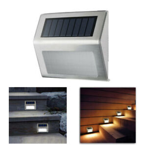 LED-Solar-Powered-Stainless-Steel-Fence-amp-Path-Lights-Home-Security-Outdoor-Lamp