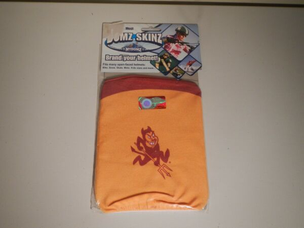 d0a88f3b8ca NCAA Arizona State University Sun Devil DOMZ SKINZ HELMET COVER - New in  Package