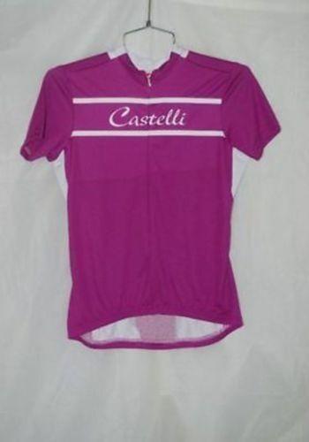 Castelli Women's Magenta Promessa Cycling Jersey Size S New