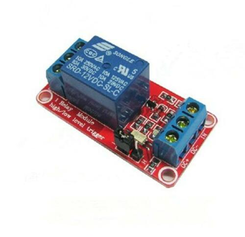 12V1 channel relay module with optocoupler isolation High and low level triggers