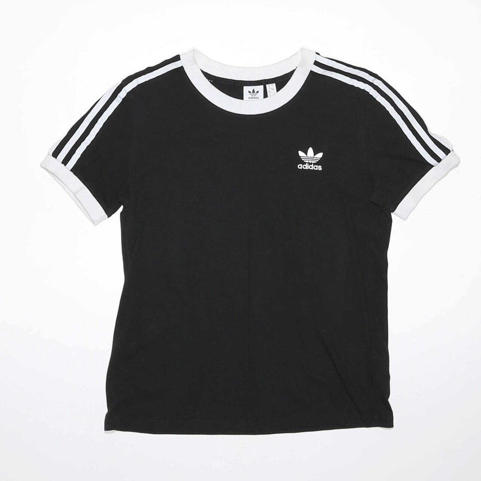 ADIDAS Black Regular Short Sleeve T-Shirt Womens M