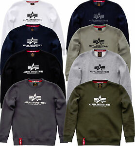 1082d953c364 Image is loading Alpha-Industries-Basic-Sweater-Sweater-Black-Navy-White-