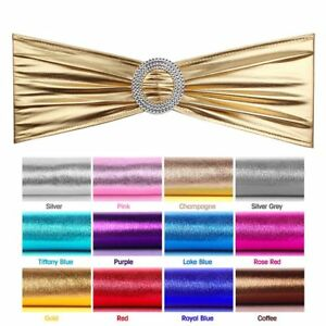 Magnificent Details About Pack Of 100 Metallic Stretch Spandex Chair Sashes For Wedding Party Banquet Bulk Onthecornerstone Fun Painted Chair Ideas Images Onthecornerstoneorg