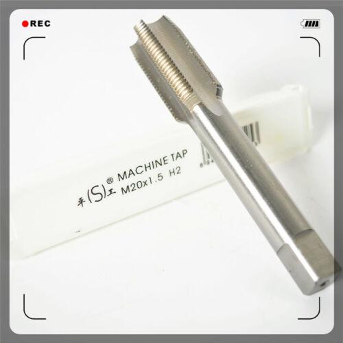 HSS Metric Machine Straight Tap M20×1.5 Right Hand High-speed steel 1.5mm